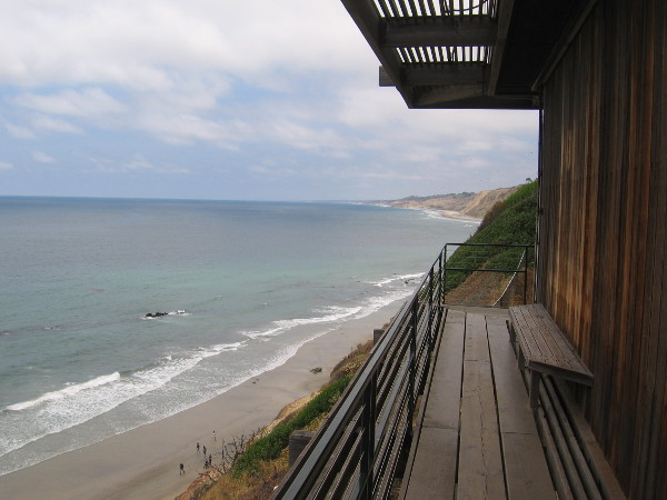 Looking north up the coast toward Black's Beach and Torrey Pines State Reserve.