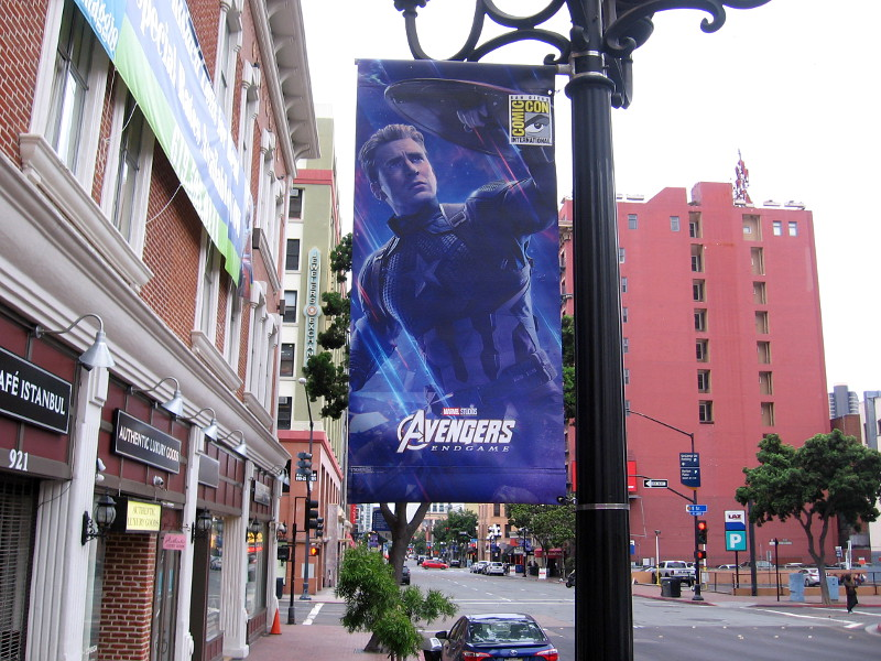 Avengers Endgame Banners Appear In Gaslamp Cool San Diego Sights