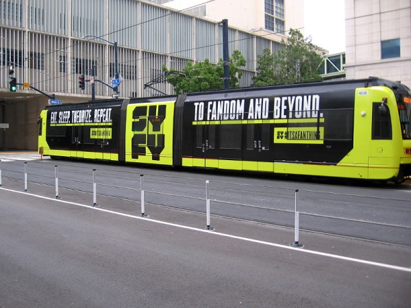 SYFY It's a Fan Thing trolley wrap for 2019 San Diego Comic-Con!