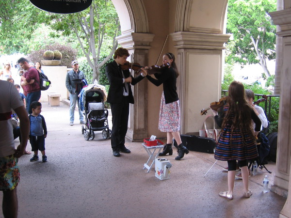 Young members of the De La Motte Strings have a bright musical future.