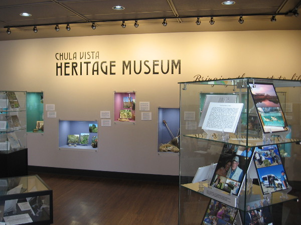 In one corner of the quiet library the public can visit the Chula Vista Heritage Museum.