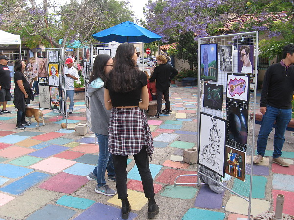 Art students from Canyon Crest Academy show their art in Spanish Village. Each student has an amazing future.