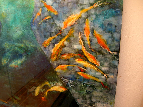 For the foreseeable future (until July 21, 2019) visitors to the Japanese Friendship Garden can enjoy an exhibition of art by Kathleen Kane-Murrell.