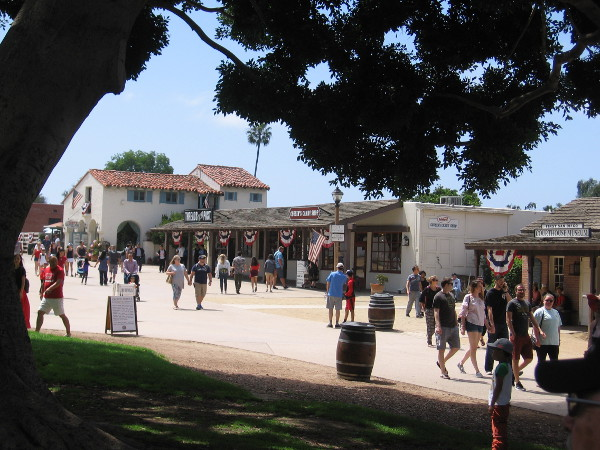 Many came out to Old Town San Diego State Historic Park to enjoy an old-fashioned Independence Day.