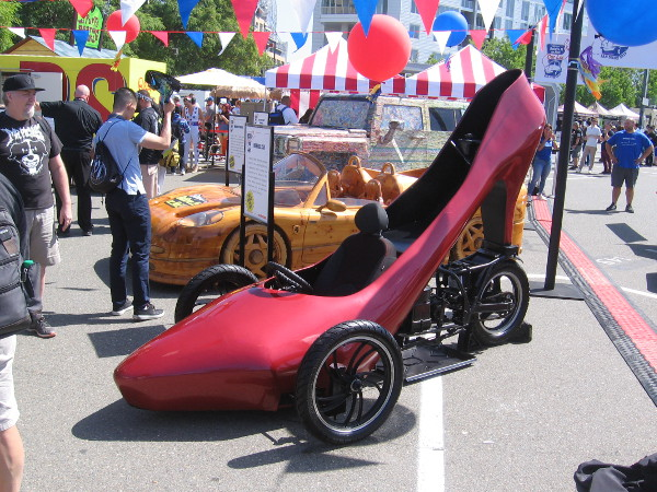 Strange, bizarre vehicles are displayed by Ripley's Believe It or Not in the Interactive Zone at Petco Park during 2019 San Diego Comic-Con!