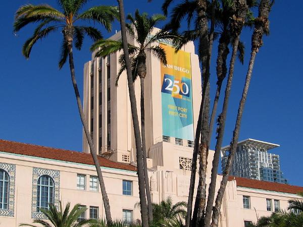 Huge Banner Celebrates San Diego S Birthday Cool San Diego Sights
