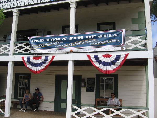The Old Town 4th of July offered entertainments that would have been common in the 19th century, after San Diego became part of the United States.
