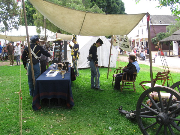 Members of the San Pasqual Battlefield Volunteer Association had a tent with historical displays.
