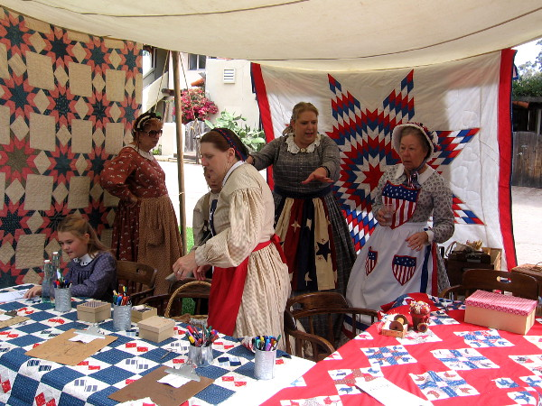 Members of the Historic Quilt Guild had some of their beautiful handiwork on display.