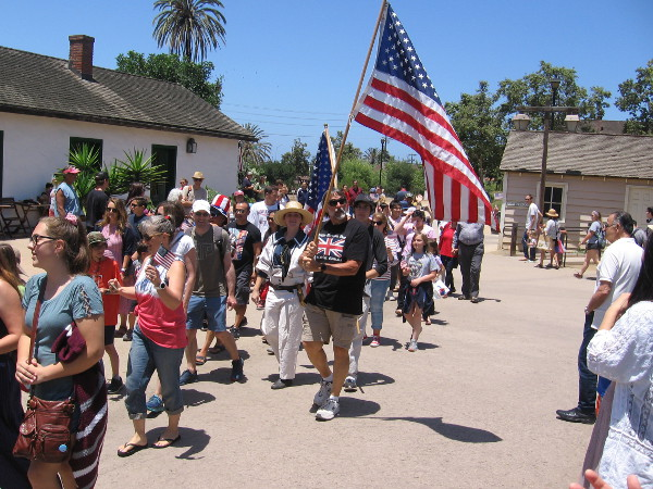 Ordinary Americans are invited to join the parade.
