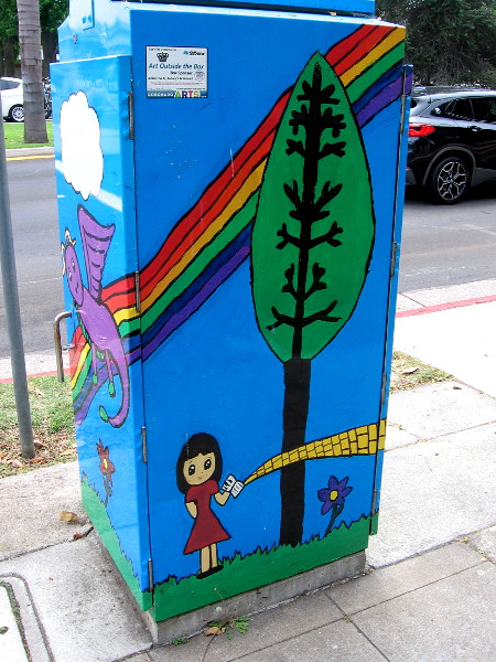 Another side of the utility box depicting L. Frank Baum's wonderful land of Oz. The popular author often spent his winters writing in a house in Coronado.