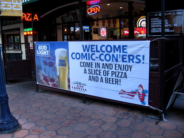 City Pizzeria welcomes Comic-Con'ers!