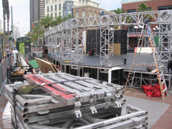 The Brooklyn Nine-Nine offsite is also under construction in Gaslamp Square.