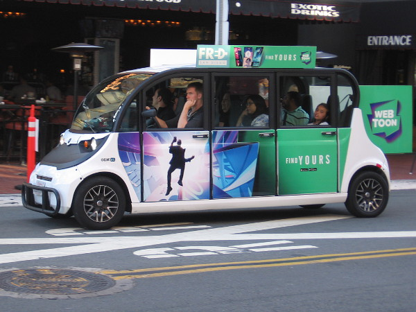 I spotted a free FRED electric vehicle promoting WEBTOON.
