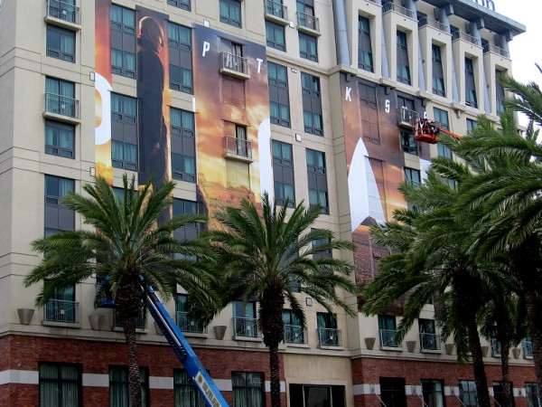 This wrap on the Hilton Gaslamp is indeed for Star Trek: Picard, as I surmised in a past blog post. It features Patrick Stewart.