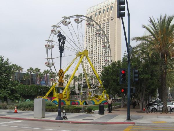 The fun Ferris wheel appears ready to go at the FOX Fan Fair!
