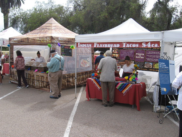 A variety of tents could be visited for food, drink and information about San Diego and its history.