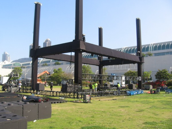 Looks like Adult Swim on the Green will have a huge stage.