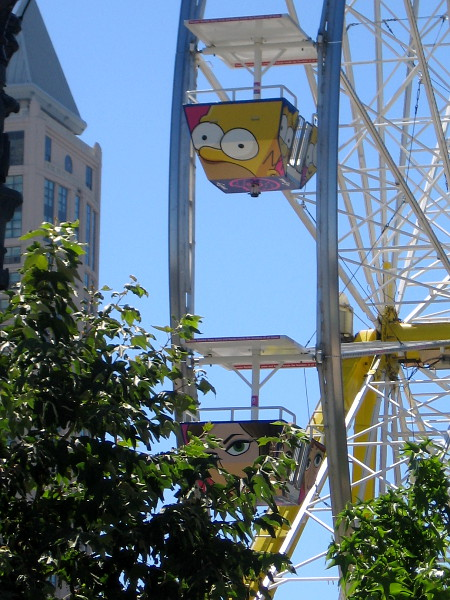 Check out the characters on the Ferris wheel!