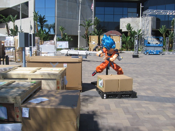 Bandai is staging their Dragon Ball Z offsite in the Marriott's Marina Terrace this year again.