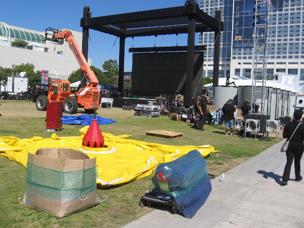 Adult Swim is getting their offsite ready behind the San Diego Convention Center.