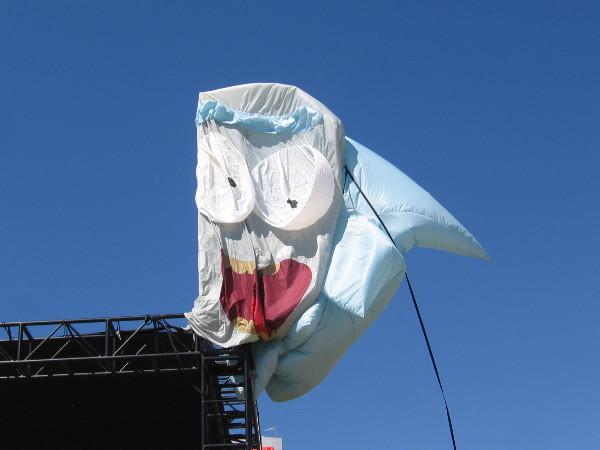 Rick's balloon head isn't inflated yet.