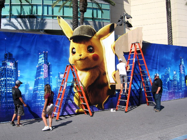 I detect Detective Pikachu at the Warner Brothers offsite!