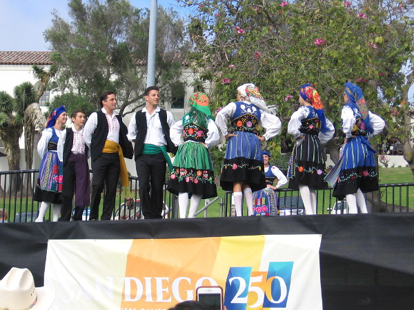 Dancers representing San Diego's Portuguese community take the stage.