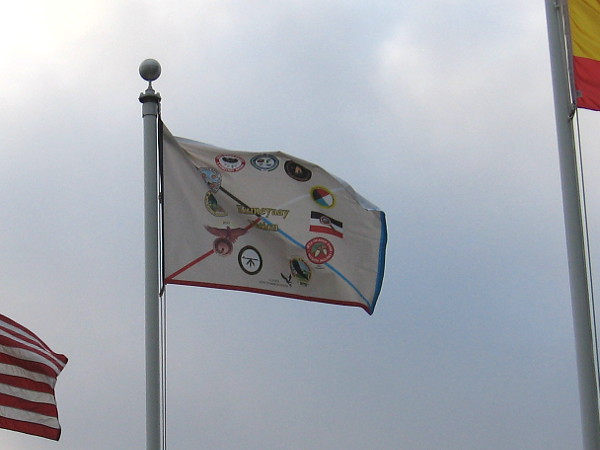The flag of the Kumeyaay Nation now flies on historic Presidio Hill, in a place of honor.