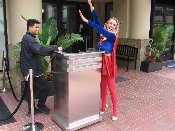 Supergirl is ready to fly to the rescue a few hours before 2019 Comic-Con Preview Night begins!