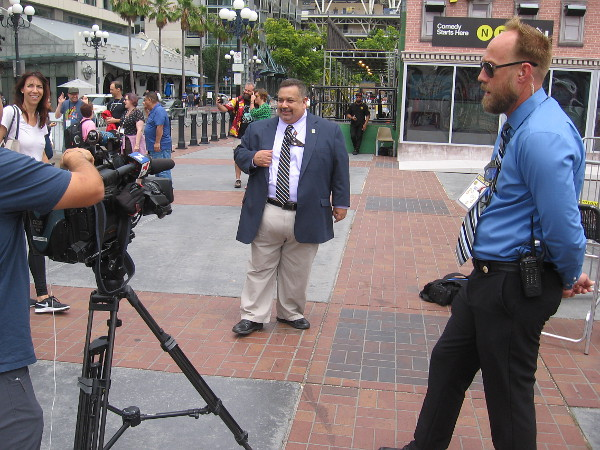 David Glanzer of Comic-Con International gives an interview.