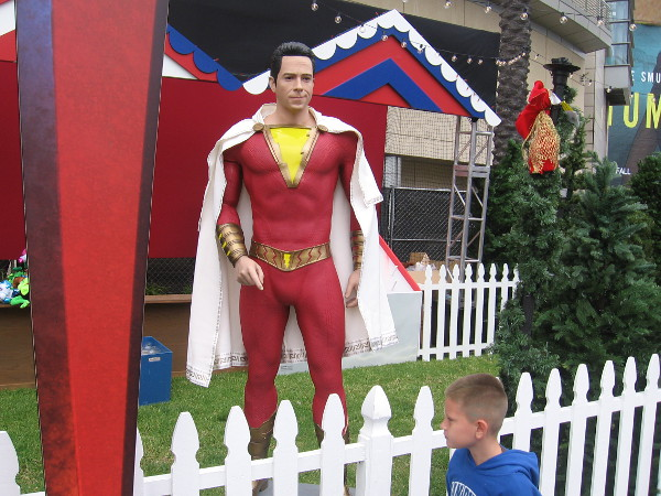 Hey kid! Over here! It's me, Shazam!