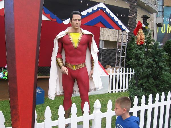 Hey kid! Over here! It's me, Shazam!