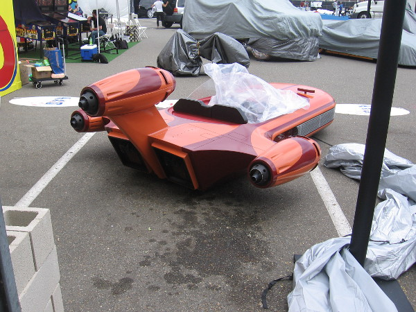 A cool Star Wars speeder at Ripley's Believe It or Not's unusual Car Lot.