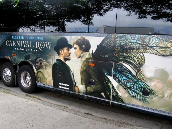 A fantastic Carnival Row wrap on a bus.