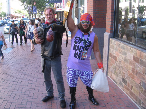 "Negan and ""Macho Man"" Randy Savage cosplay."