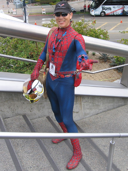 Spider-Man cosplay.