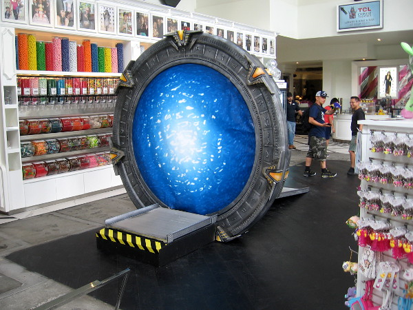 There's a functioning Stargate inside the Theatre Box!