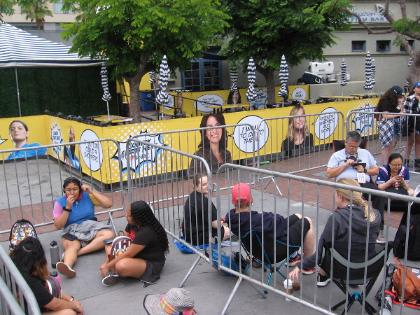 Fans are already waiting in line for NBC's Brooklyn Nine-Nine activation.