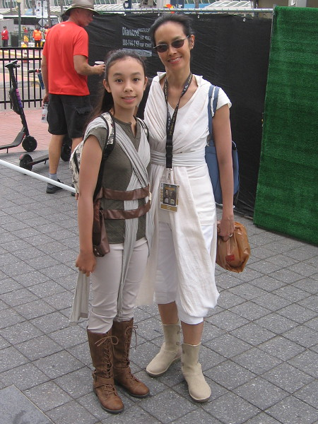 Rey is a popular cosplay this year.