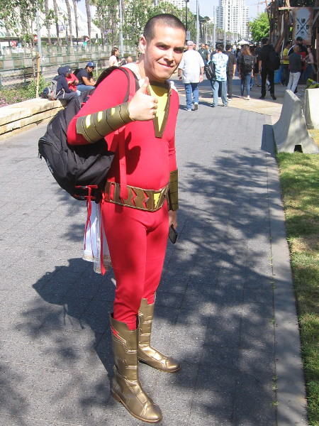 Shazam cosplay.