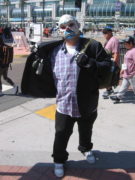 Joker cosplay.