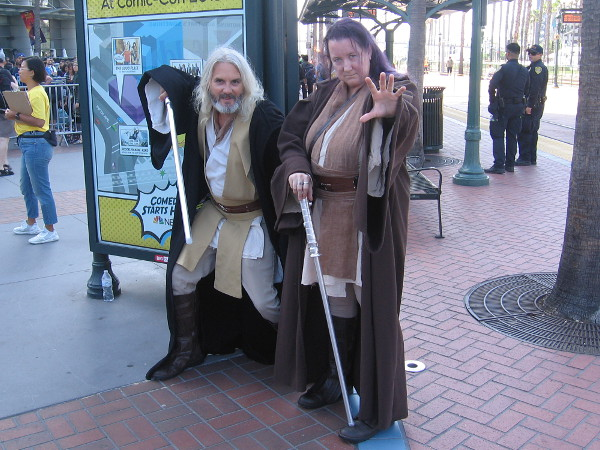 Jedi cosplay.