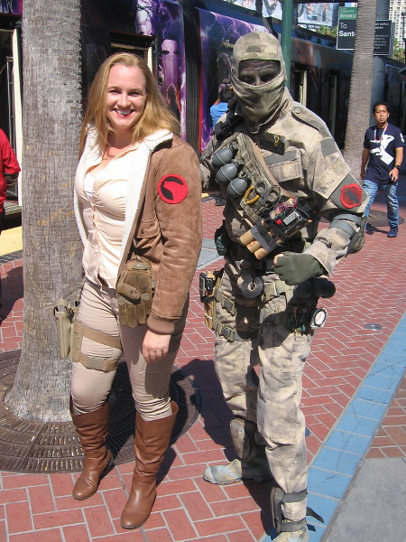 Cover Girl (G.I. Joe) and Firefly (Cobra) cosplay.