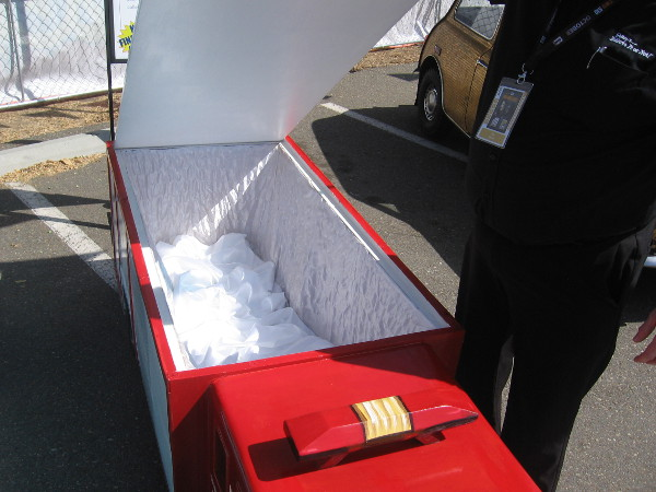 A look inside the Fire Truck Fantasy Coffin.