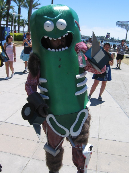 He told me his name is Pickle Rick.