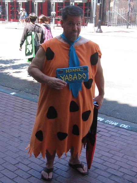 Fred Flintstone cosplay.