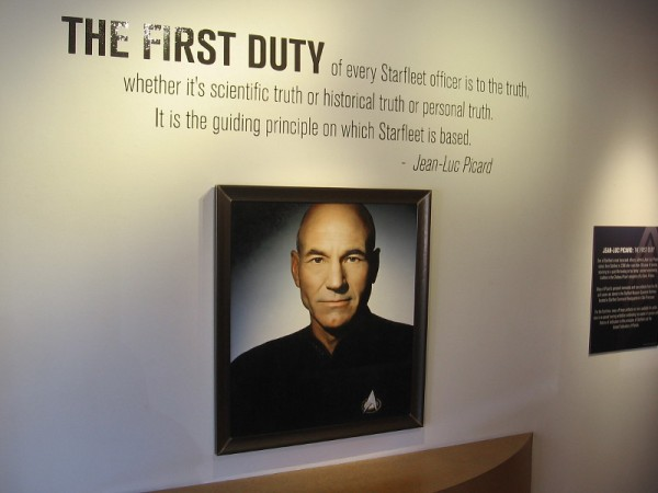 The first duty of every Starfleet officer is to the truth...