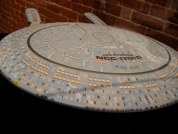 USS Enterprise NCC-1701-D, Galaxy-class starship. Picard commanded the Enterprise-D from 2364 to 2371.