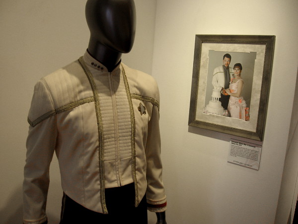 Artifacts from the marriage of Commander William Riker and Commander Deanna Troi in 2379.